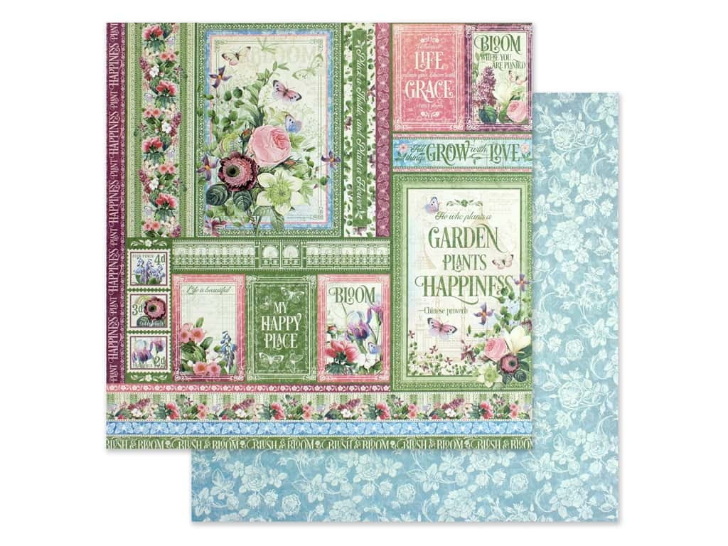 Graphic 45 Collection Bloom Paper 12 in. x 12 in. Grow With Love (25 pieces)