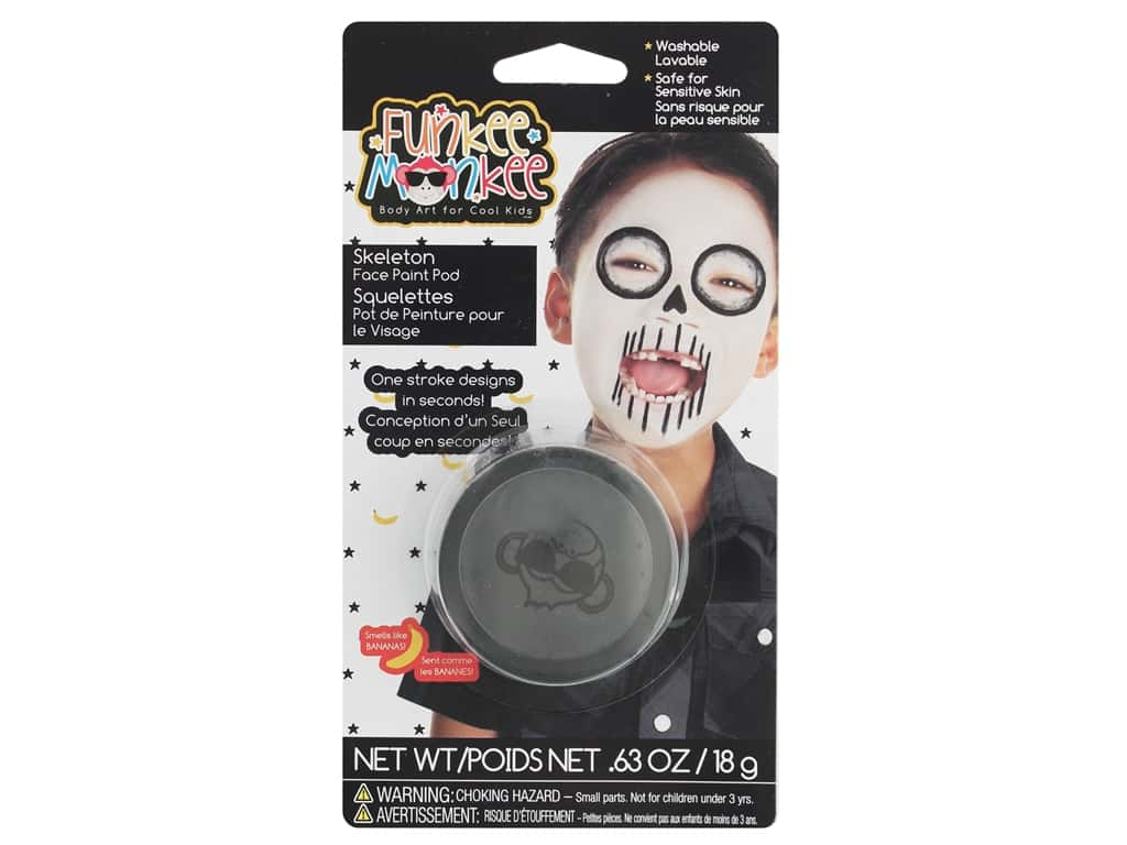 Funkee Munkee Face Paint Pod Skeleton Black