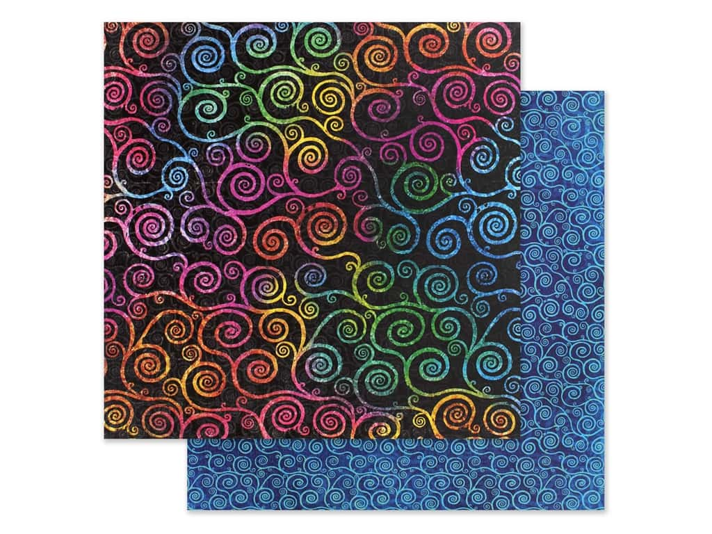 Graphic 45 Collection Kaleidoscope Paper 12 in. x 12 in. Boldly Brilliant (25 pieces)
