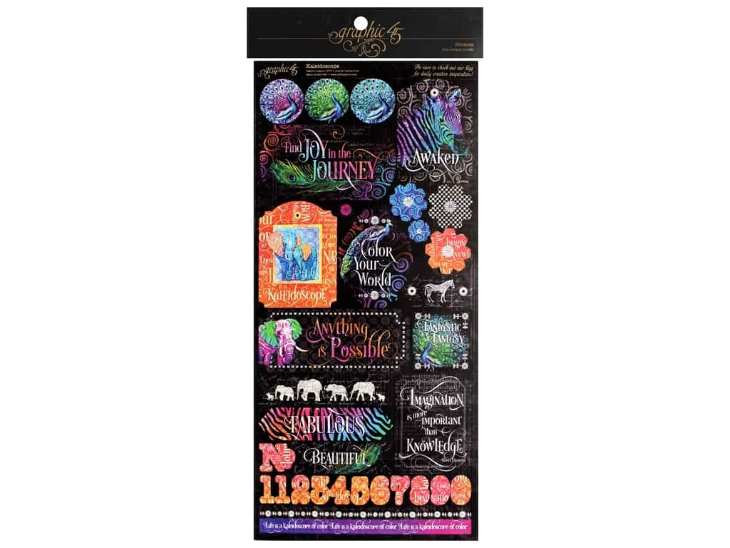 Graphic 45 Collection Kaleidoscope Sticker