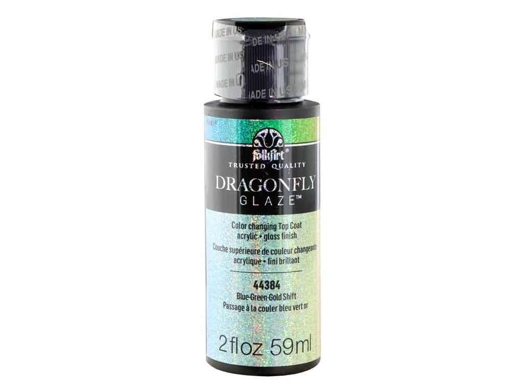 Plaid FolkArt Dragonfly Glaze 2 oz. Blue-Green-Gold
