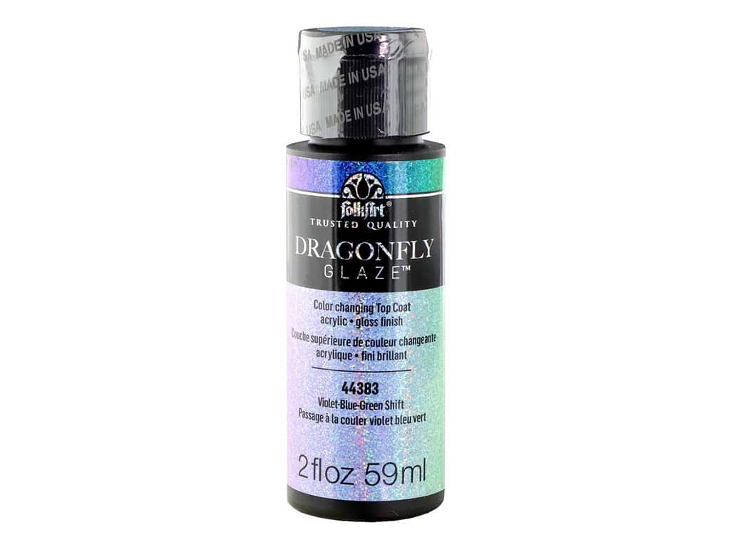 Plaid FolkArt Dragonfly Glaze 2 oz. Violet-Blue-Green
