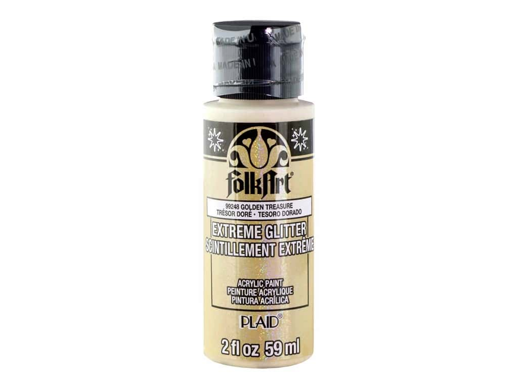 Plaid FolkArt Extreme Glitter Paint 2 oz. Golden Treasure