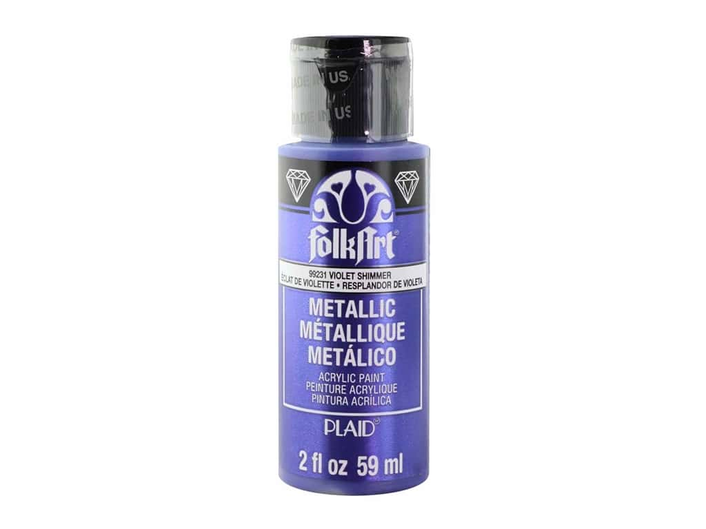 Plaid FolkArt Acrylic Paint 2oz Metallic Violet