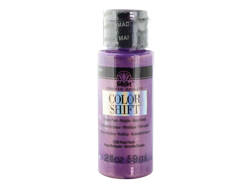 Plaid Folkart Color Shift Paint 2 oz Plum Flash