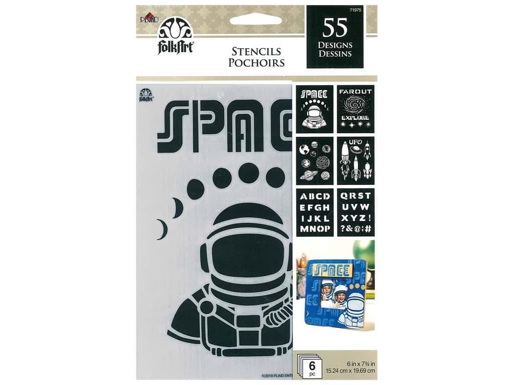 Plaid FolkArt Craft Stencils Value Packs - Space