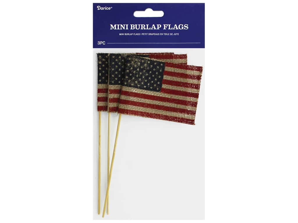 Darice Mini Burlap Flags 3 pc.