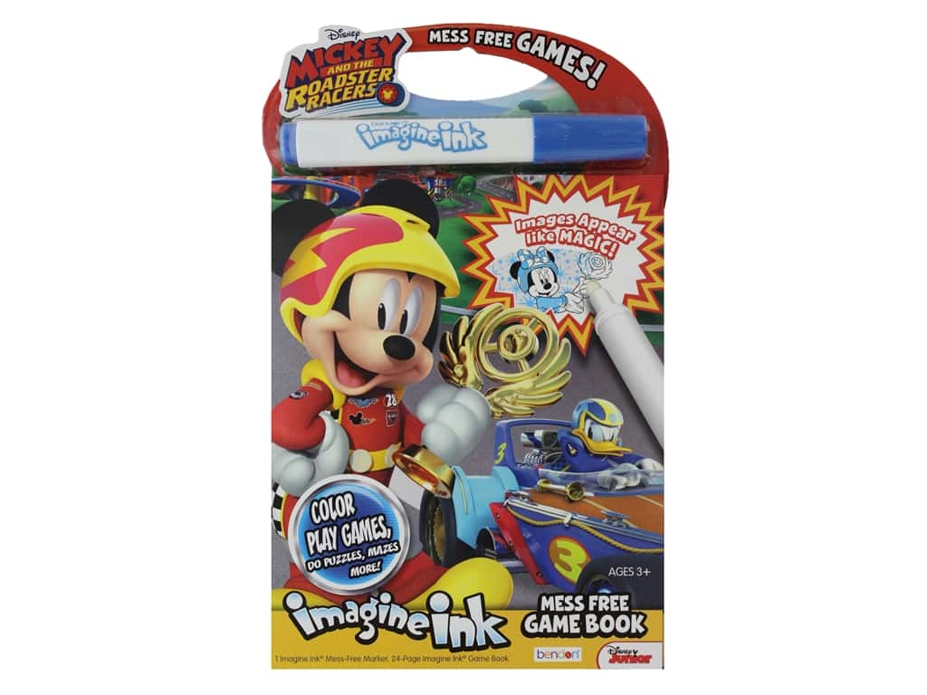 Bendon Mess Free Game Disney Mickey And The Roadster Racers Book