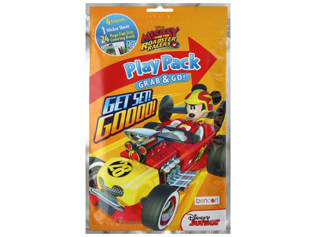 Bendon Coloring Play Pack Disney Mickey And The Roadster Racers Book