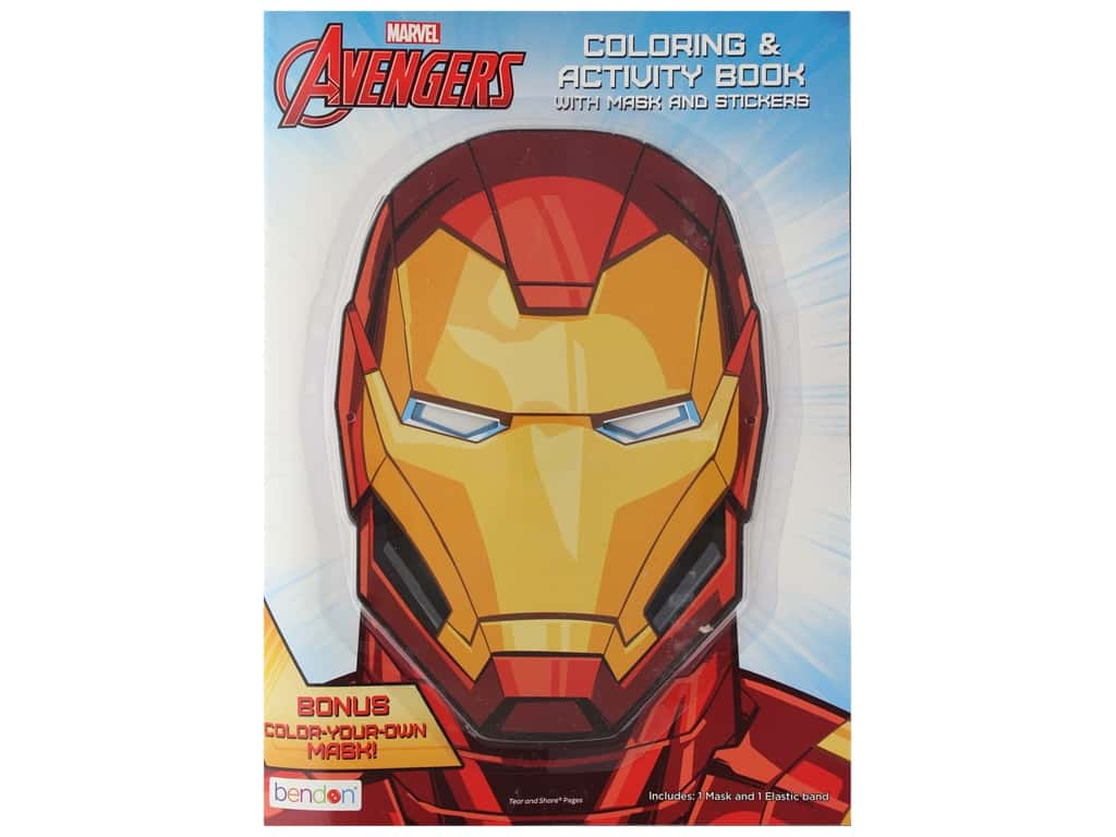 Bendon Coloring & Activity Mask Sticker Marvel Avengers Book