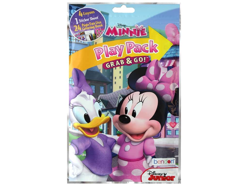 Bendon Coloring Book Play Pack Disney Minnie