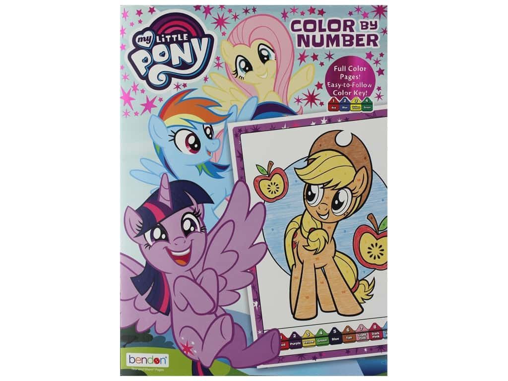 Bendon Color By Number Book Hasbro My Little Pony