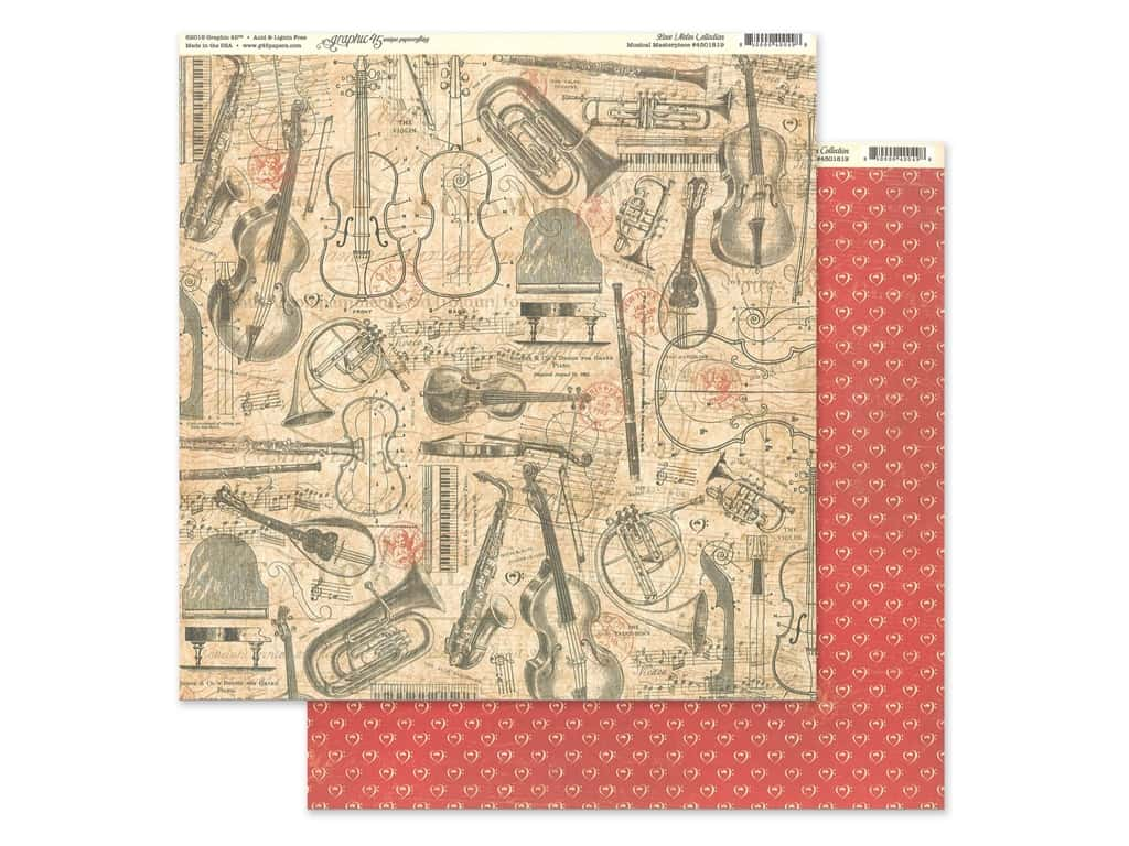Graphic 45 Collection Love Notes Paper 12 in. x 12 in. Musical Masterpiece (25 pieces)