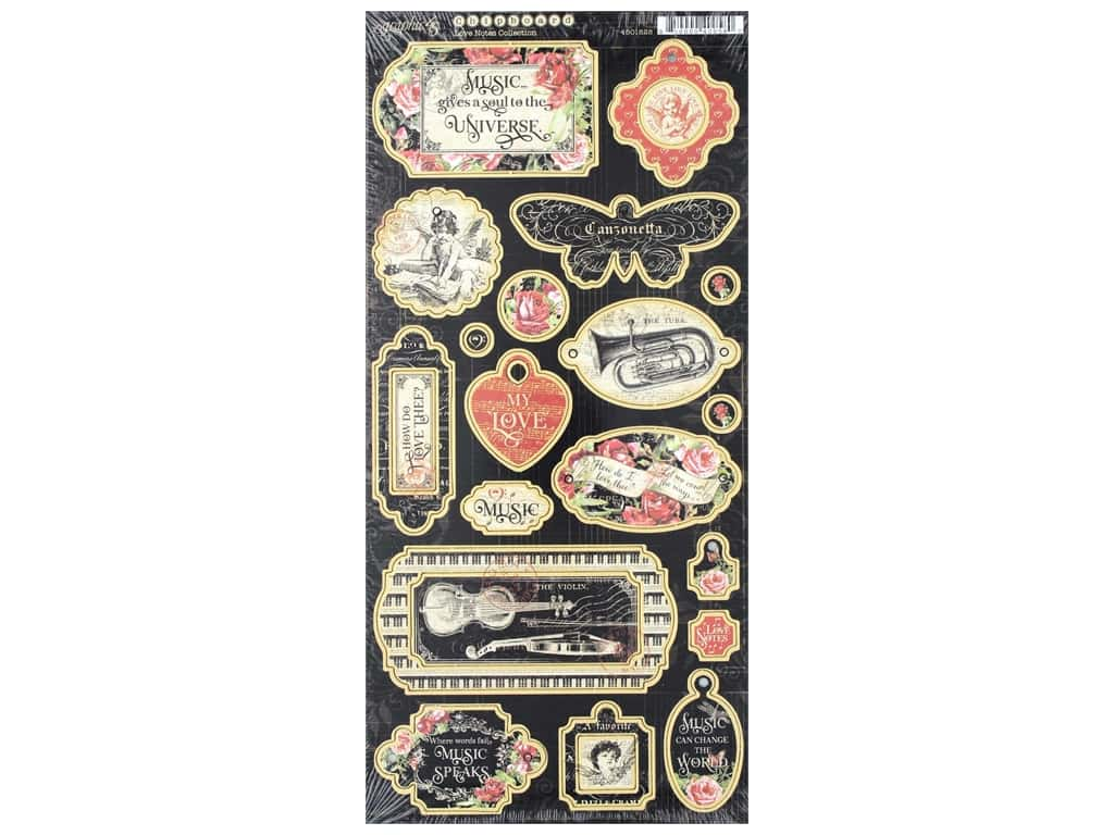 Graphic 45 Collection Love Notes Chipboard