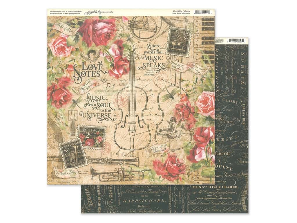 Graphic 45 Collection Love Notes Paper 12 in. x 12 in. (25 pieces)