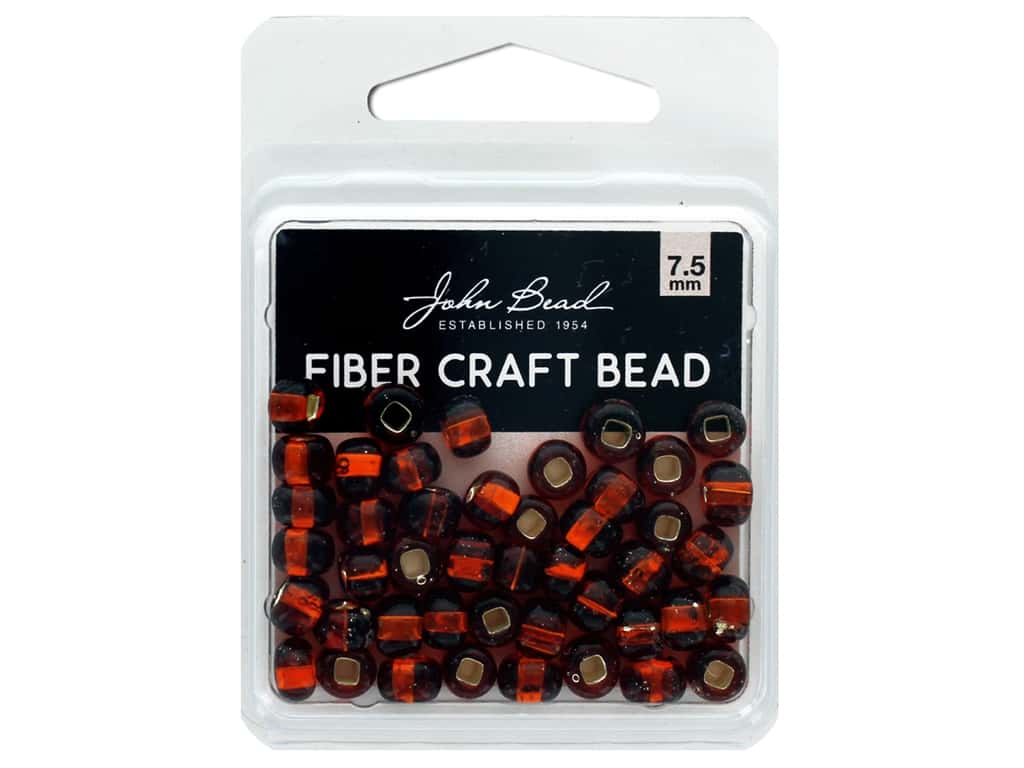John Bead Fiber Craft Beads 7.5 mm Transparent Topaz Silver Lined