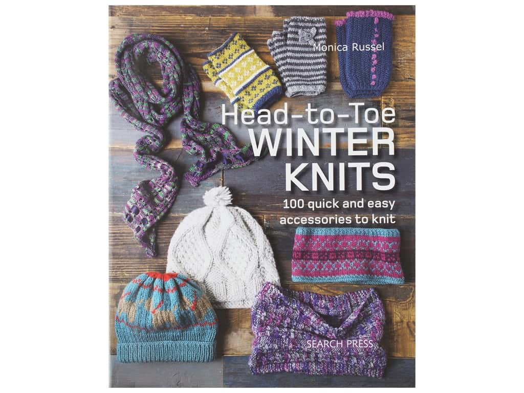 Search Press Head To Toe Winter Knits Book
