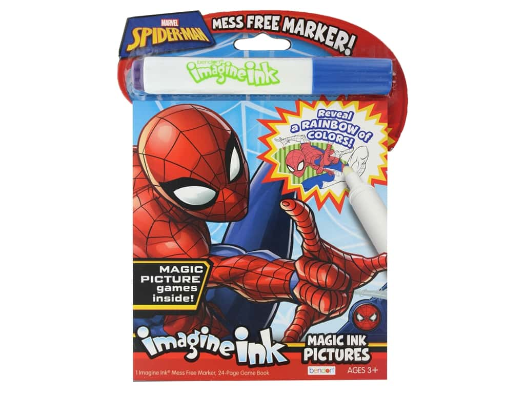 Bendon Magic Ink Pictures Book Marvel Spider Man