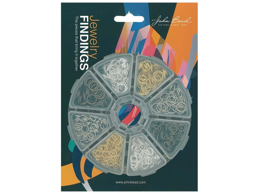 John Bead Findings Assorted Jump Ring 8 Slot Round 1200 pc