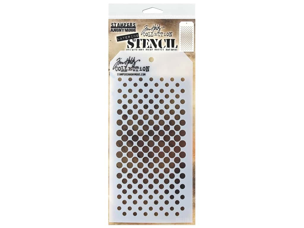 Stampers Anonymous Tim Holtz Layering Stencil - Gradient Dot