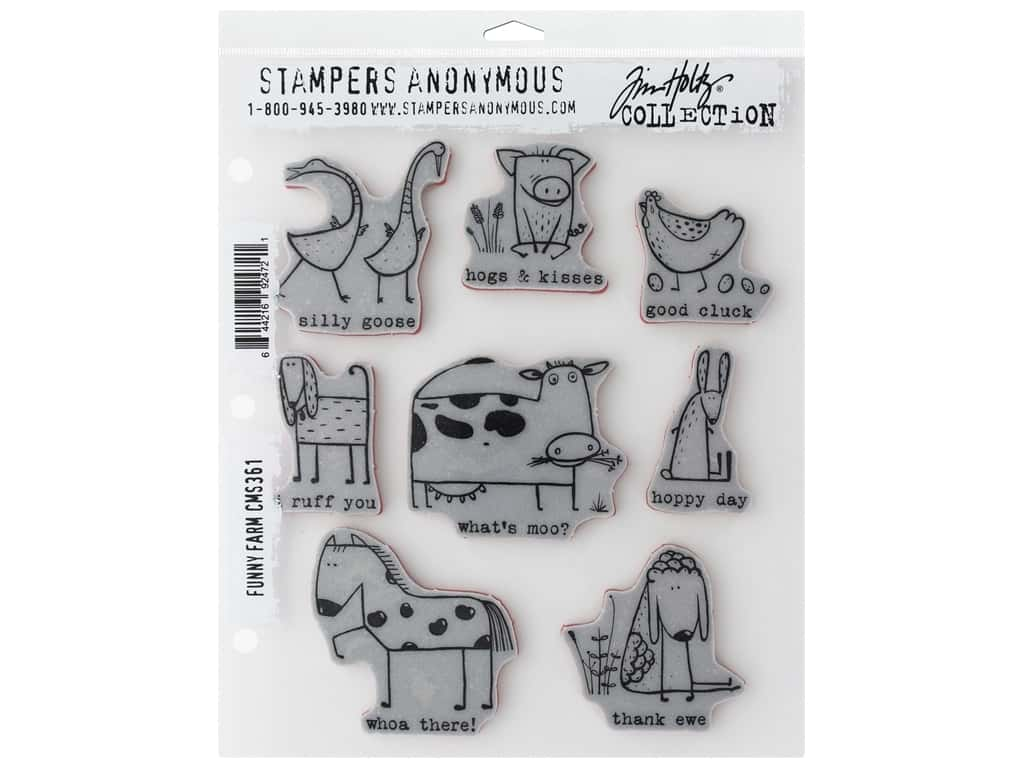 Stampers Anonymous Tim Holtz Cling Mount Stamp Set - Funny Farm