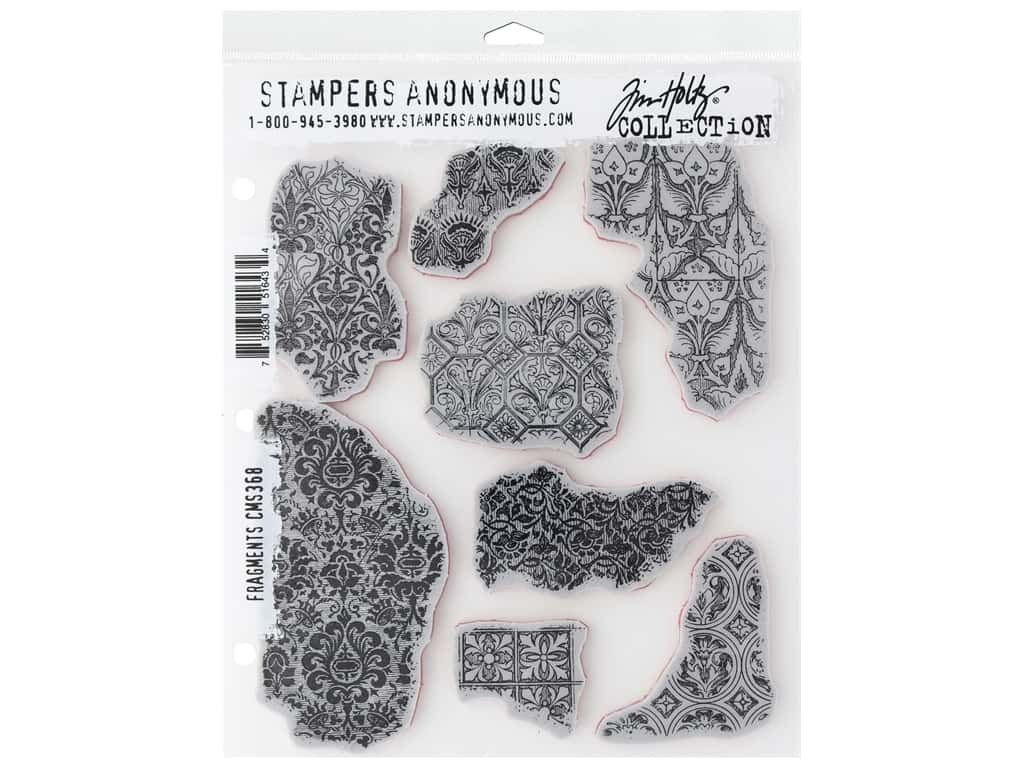 Stampers Anonymous Tim Holtz Cling Mount Stamp Set - Fragments