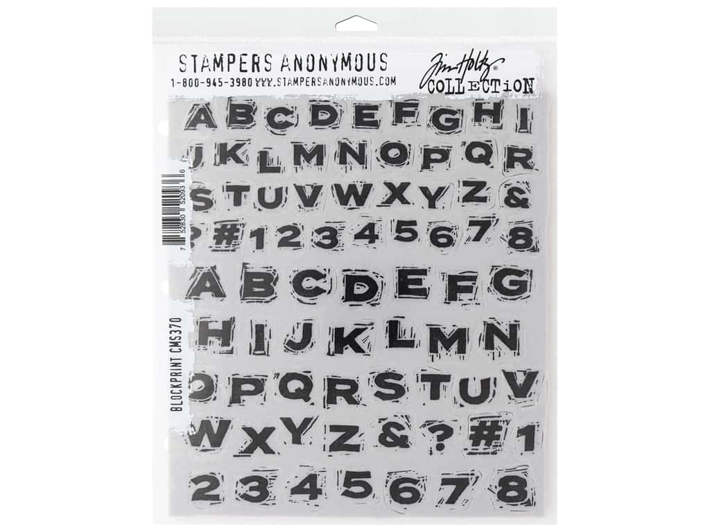 Stampers Anonymous Tim Holtz Cling Mount Stamp Set - Blockprint