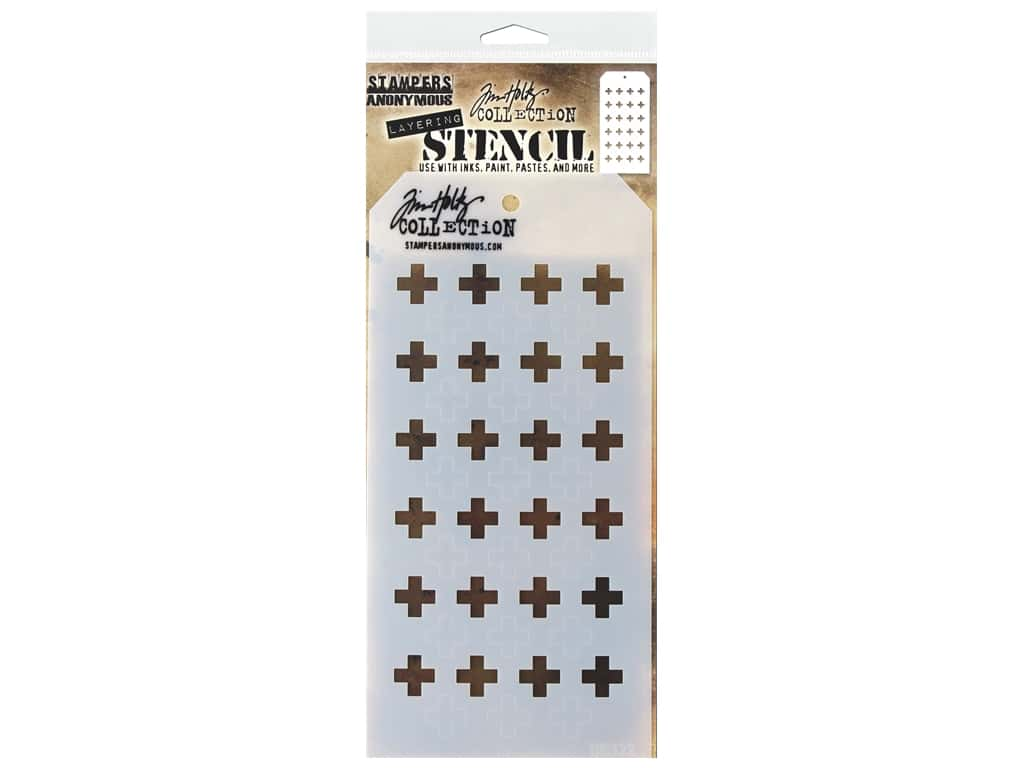 Stampers Anonymous Tim Holtz Layering Stencil - Shifter Plus