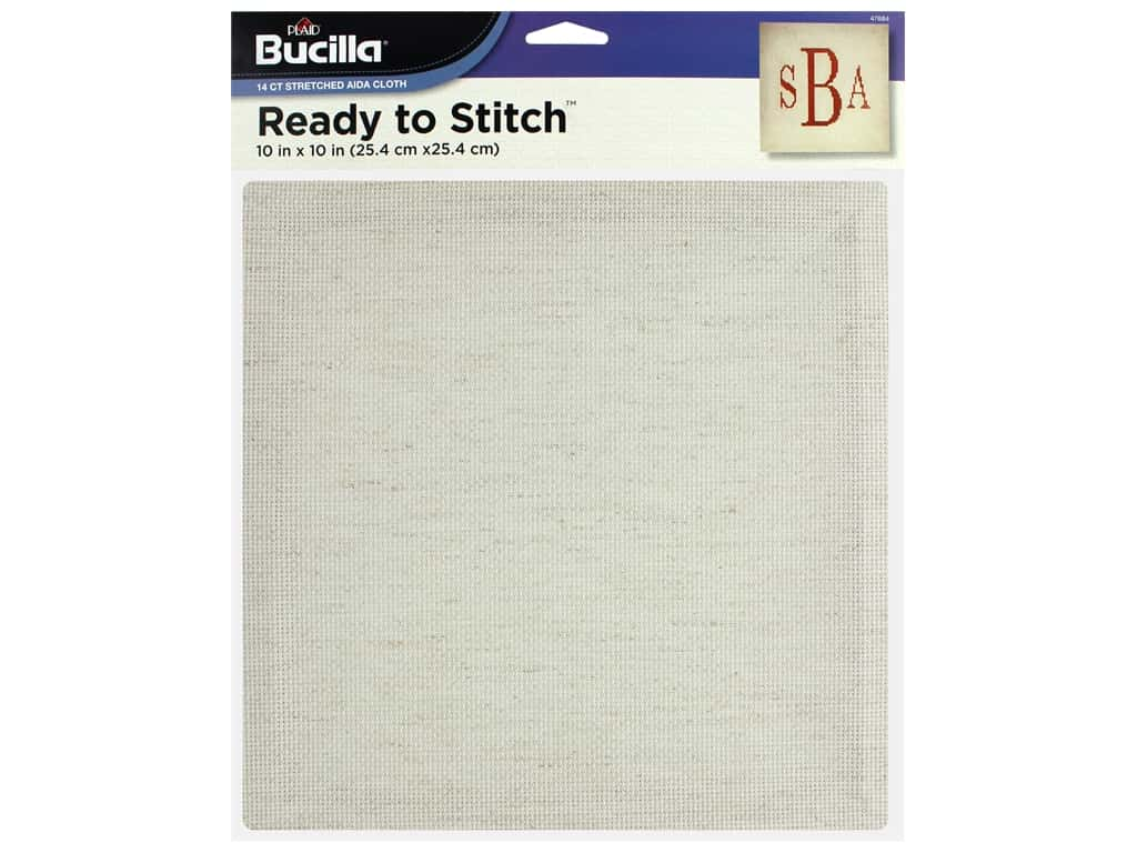 Bucilla Accessories Ready To Stitch Blank Aida 10 in. x 10 in. Oatmeal