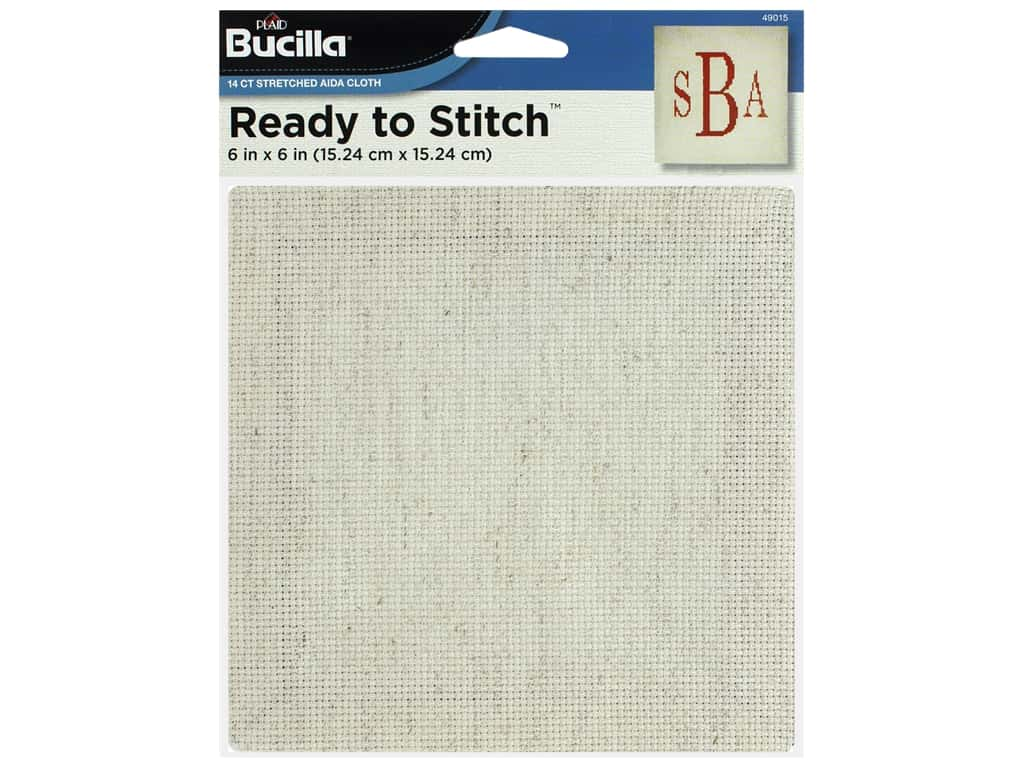 Bucilla Accessories Ready To Stitch Blank Aida 6 in. x 6 in. Oatmeal