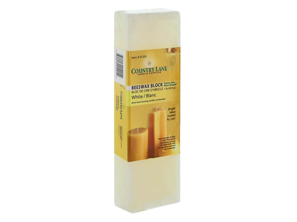 Country Lane Wax Beeswax Block 1 lb White