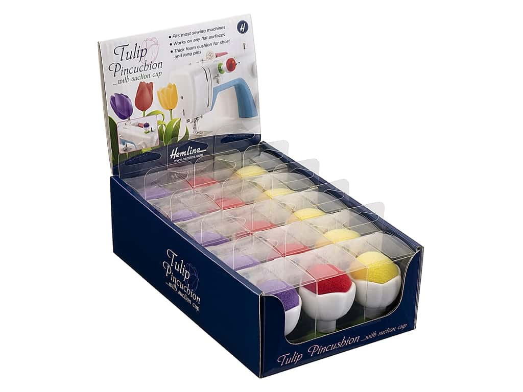Tacony Tulip Pin Cushions - Assorted 15 pc. (15 pieces)