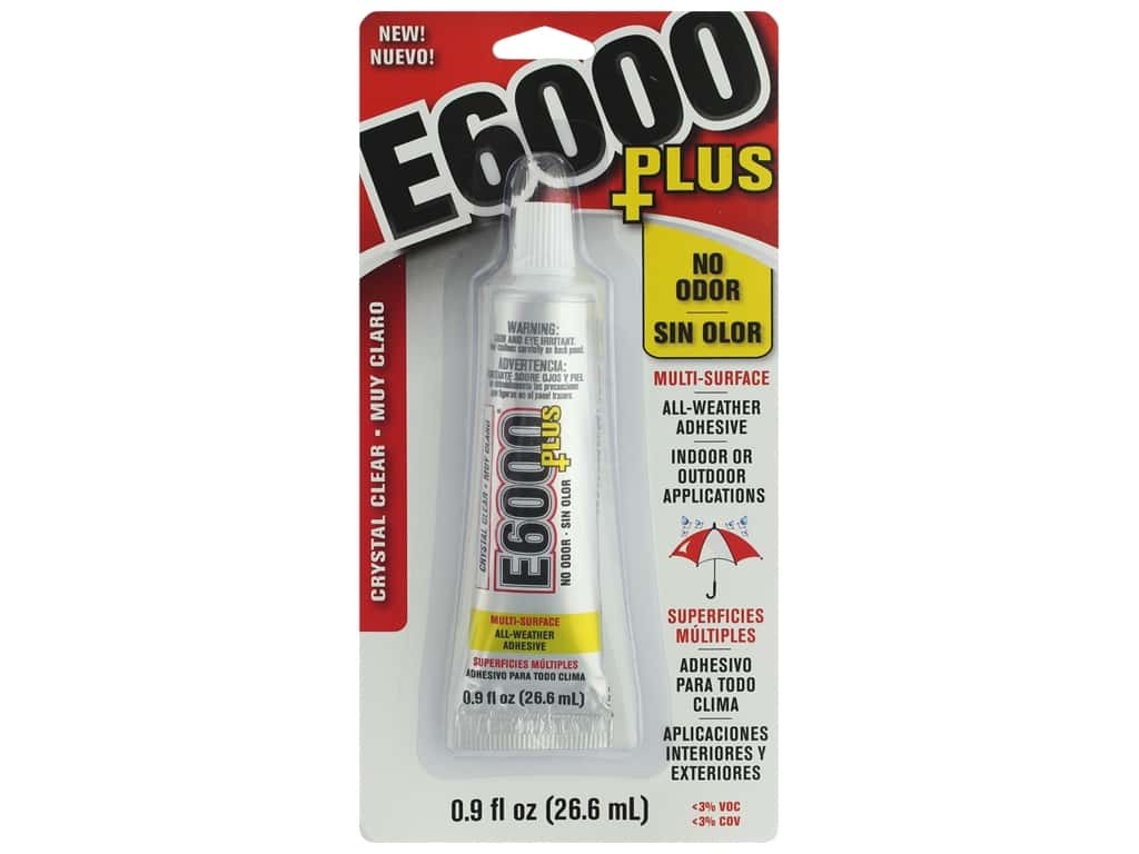 Eclectic Adhesive E6000 Plus No Odor .9oz Crystal Clear