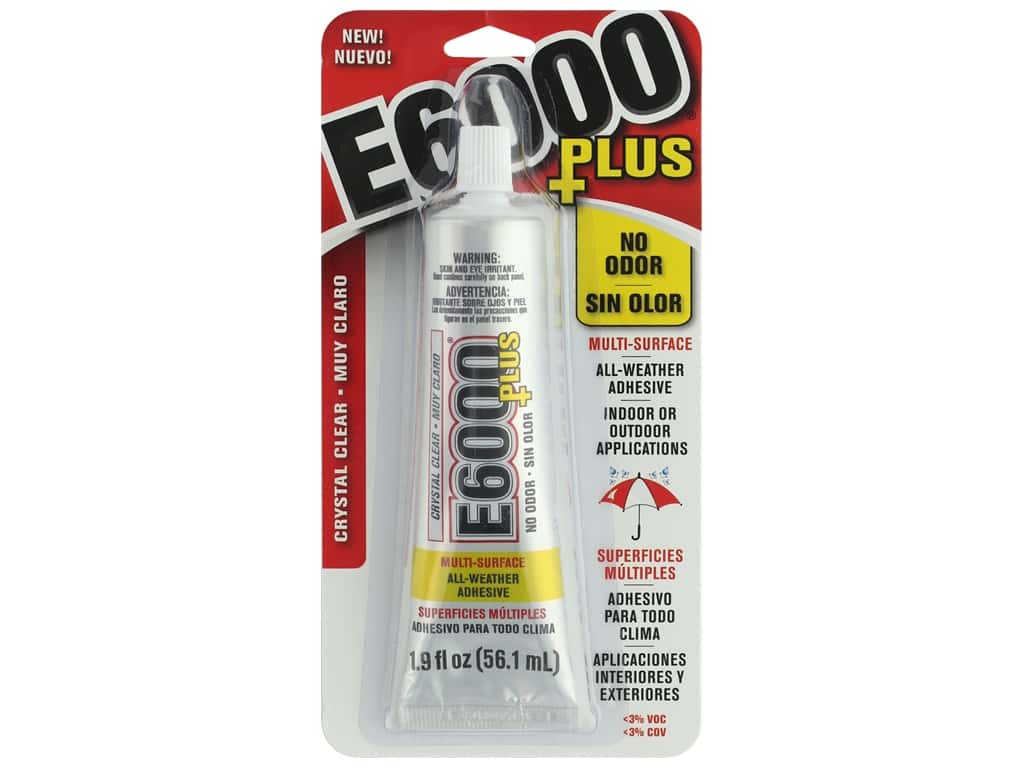 Eclectic Adhesive E6000 Plus No Odor 1.9oz Crystal Clear