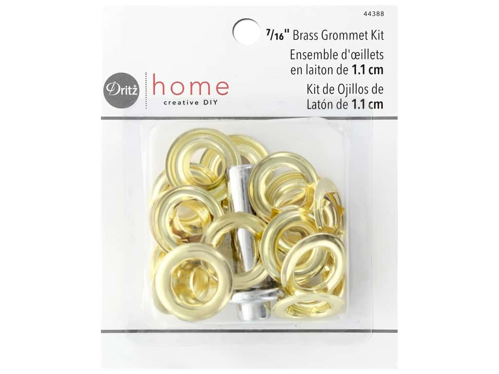Dritz Home Grommet Kit 7/16 in. Round Brass 10 pc
