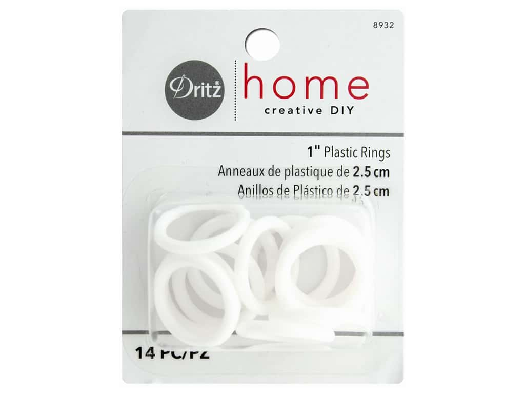 Plastic Rings by Dritz Home 1 in. 14 pc.