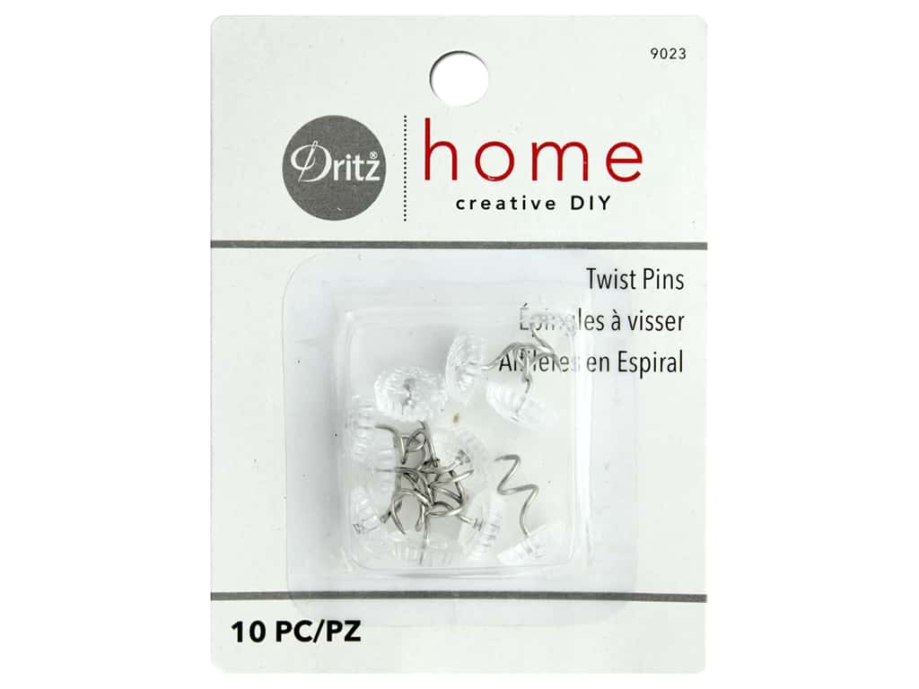 Dritz Home Twist Pins 10 pc. Clear