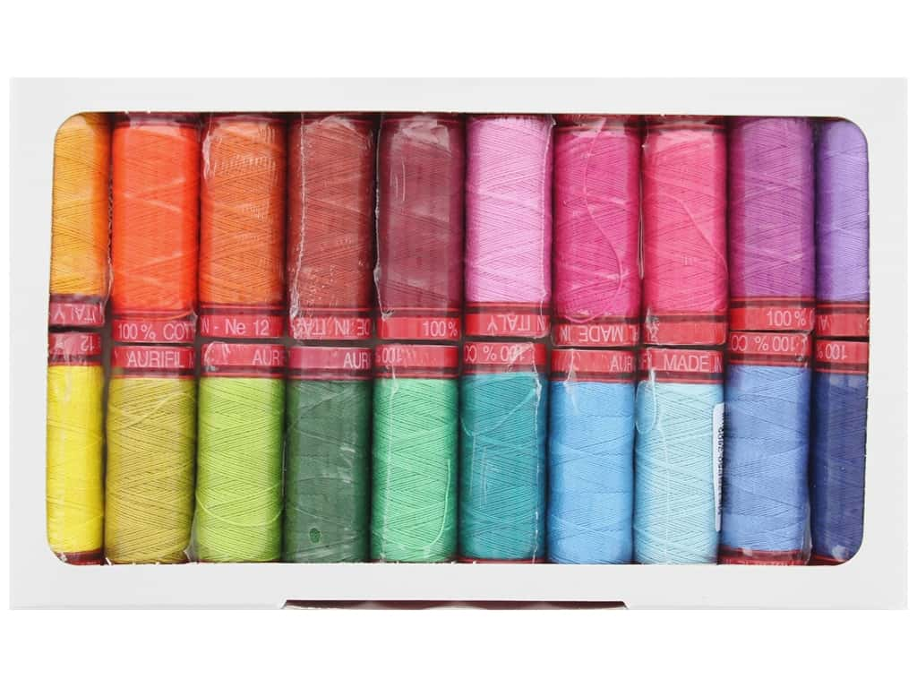 Aurifil Kaffe Fassett & Liza Lucy Glorious Kantha Thread Collection 20 pc.