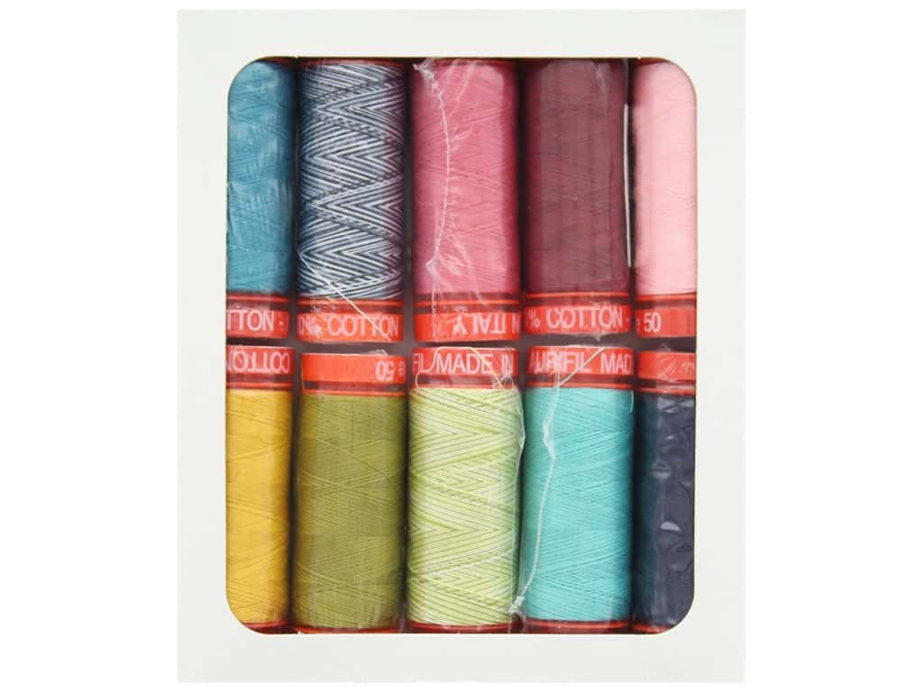 Aurifil BasicGrey Thread Up With Nova Thread Collection 10 pc.