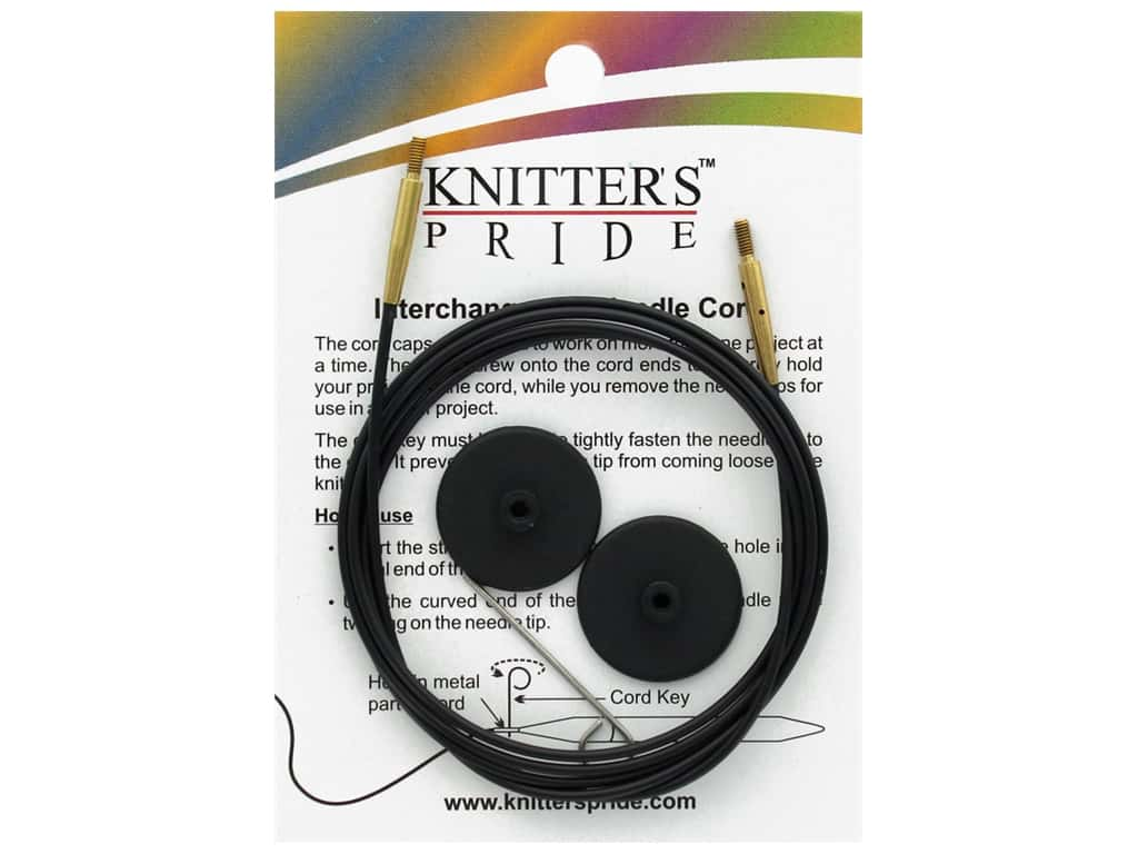 Knitter's Pride Interchangeable Needle Cord Black/Gold 47 in.