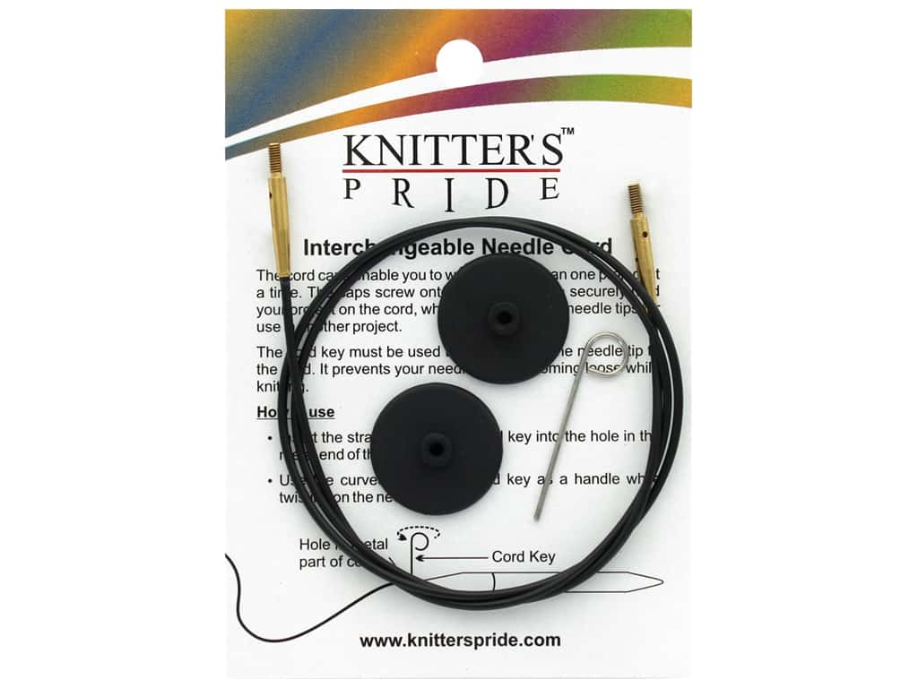 Knitter's Pride Interchangeable Needle Cord Black/Gold 32 in.
