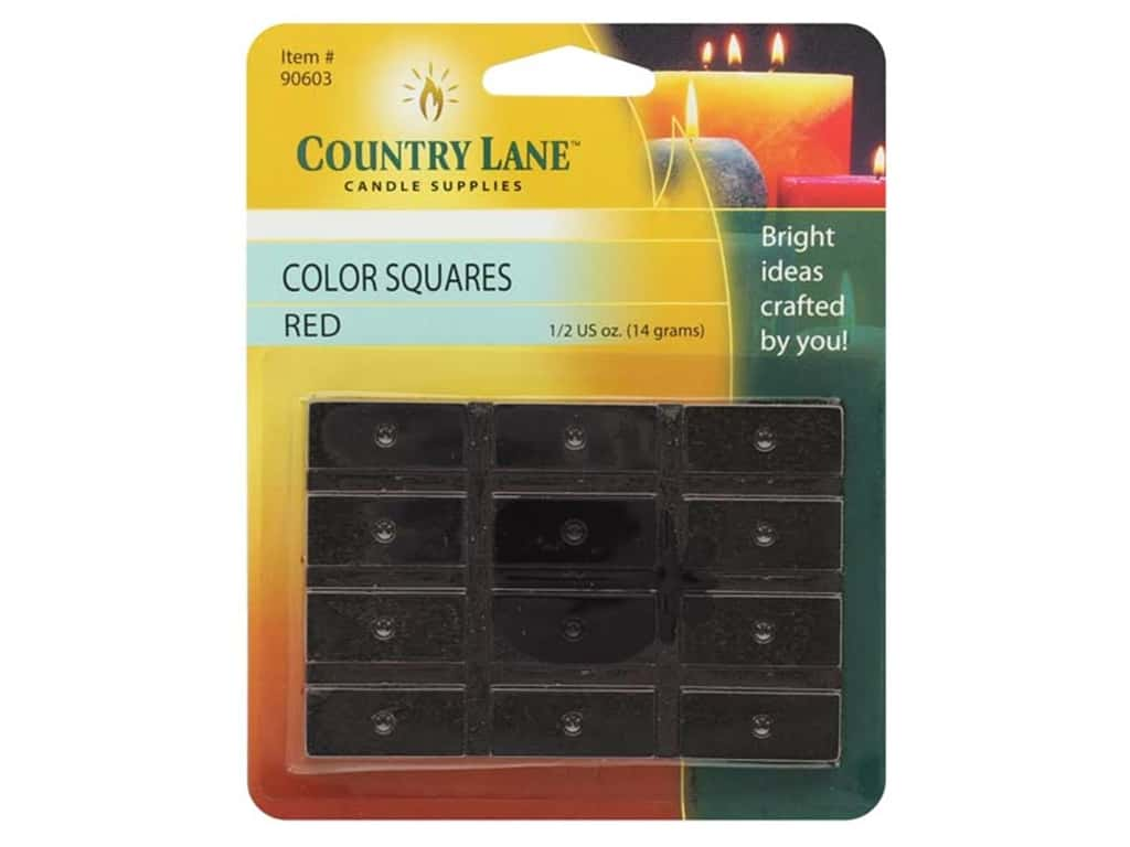 Country Lane Candle Dye Color Squares 1/2 oz Red