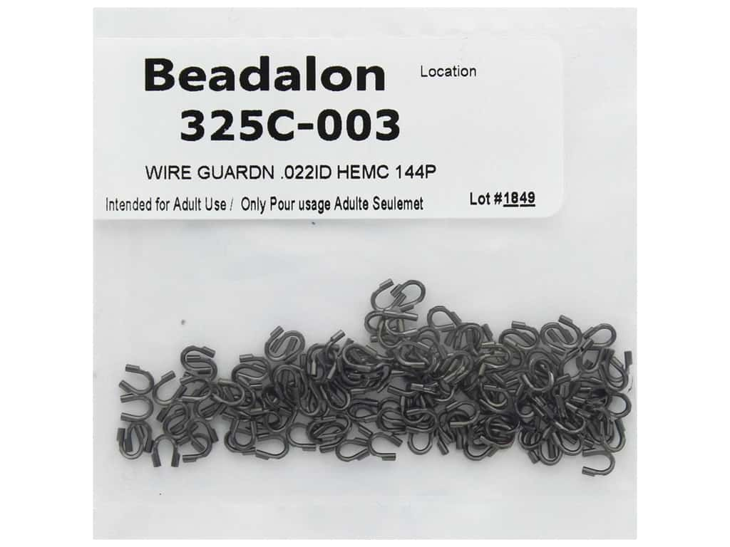 Beadalon Wire Guardian .022 in. Hematite 144 pc (3 pieces)