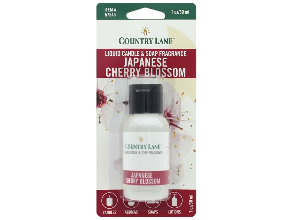Country Lane Scent Liquid Candle & Soap Fragrance Japanese Cherry Blossom 1 oz