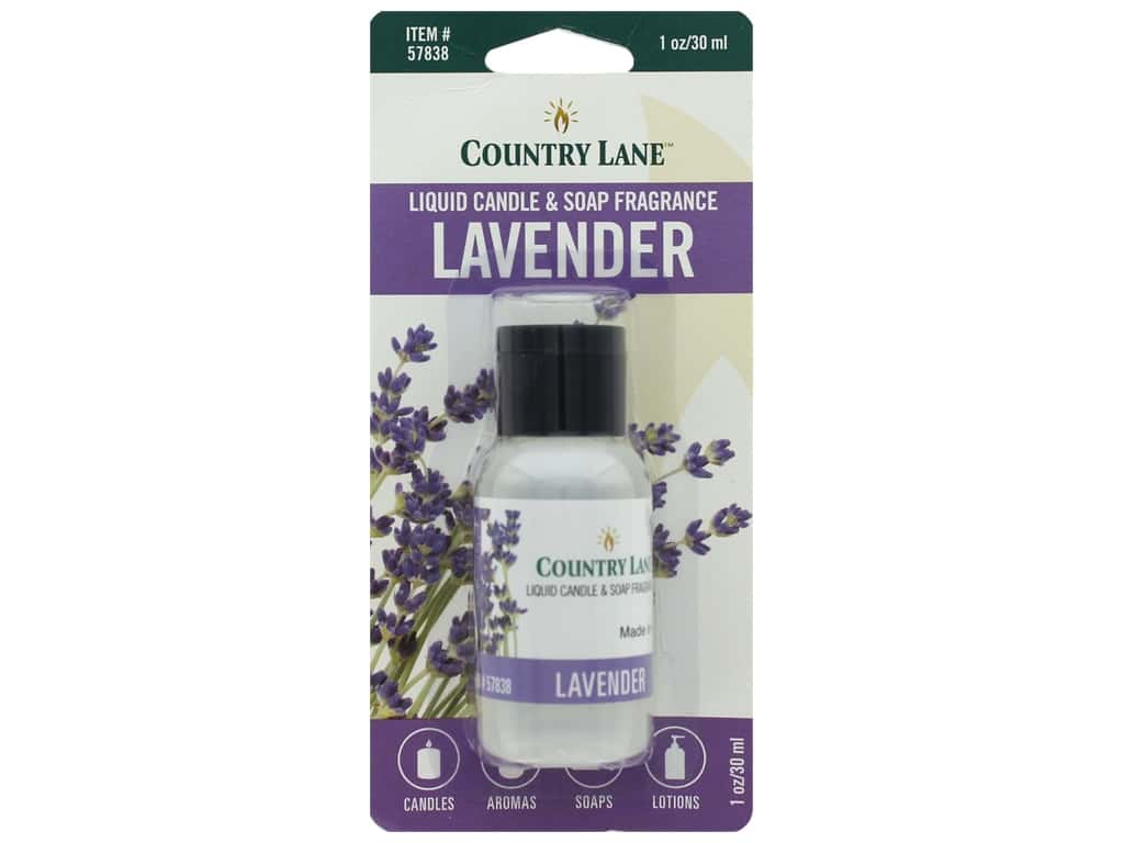Country Lane Scent Liquid Candle & Soap Fragrance Lavender 1 oz