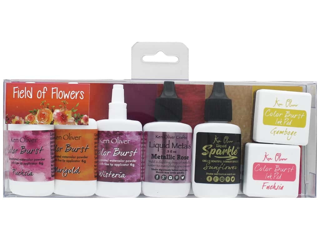 Contact Crafts Ken Oliver Multi Media Pack Field of Flowers 6pc