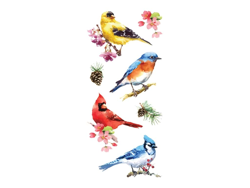Paper House Sticker Watercolor Birds