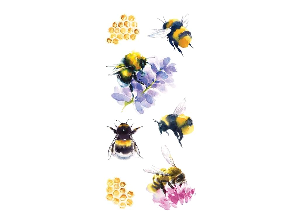 Paper House Sticker Watercolor Bees