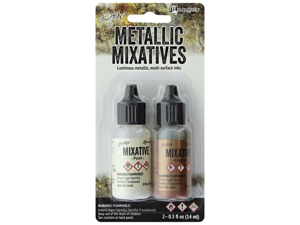 Tim Holtz Adirondack Alcohol Ink Metallic Mixative by Ranger Pearl/Copper