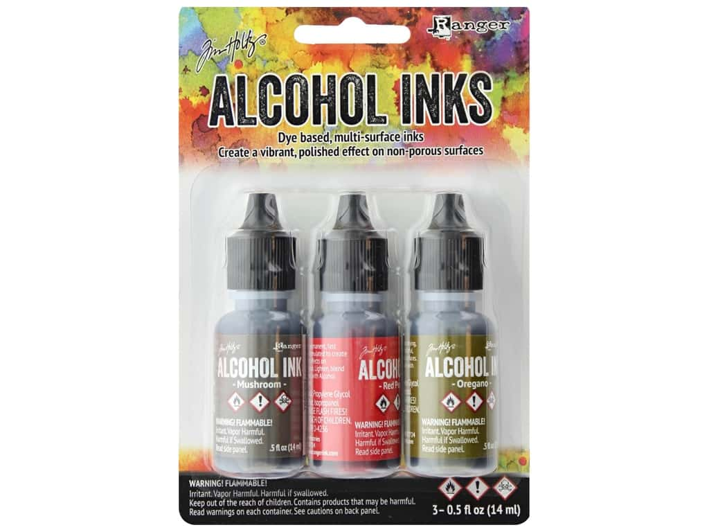 Tim Holtz Alcohol Ink by Ranger .5 oz. Tuscan Garden Set 3 pc.